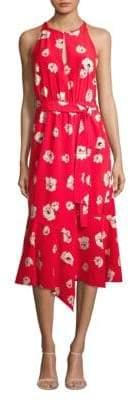 Derek Lam Belted Asymmetric Silk Dress