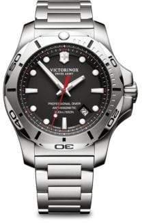Victorinox Inox Pro Diver Black Dial Stainless Steel Bracelet Watch