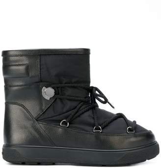7c1e2ee8534e Moncler Black Round Toe Boots For Women - ShopStyle Canada
