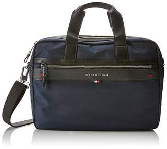 Tommy Hilfiger Elevated Computer Bag, Men's Laptop Blue (Tommy Navy/Core Stp), 9.5x30x40 cm (B x H T)