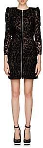 Givenchy Women's Leopard-Pattern Lace & Velvet Minidress - Black