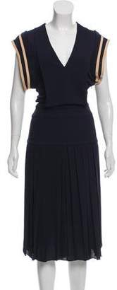 Chloé Pleated Midi Dress w/ Tags