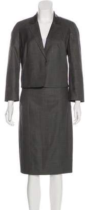 Kaufman Franco KAUFMANFRANCO Long Sleeve Knee-Length Skirt Suit