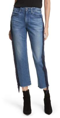 3x1 NYC W3 Higher Ground Fringe Crop Straight Leg Jeans