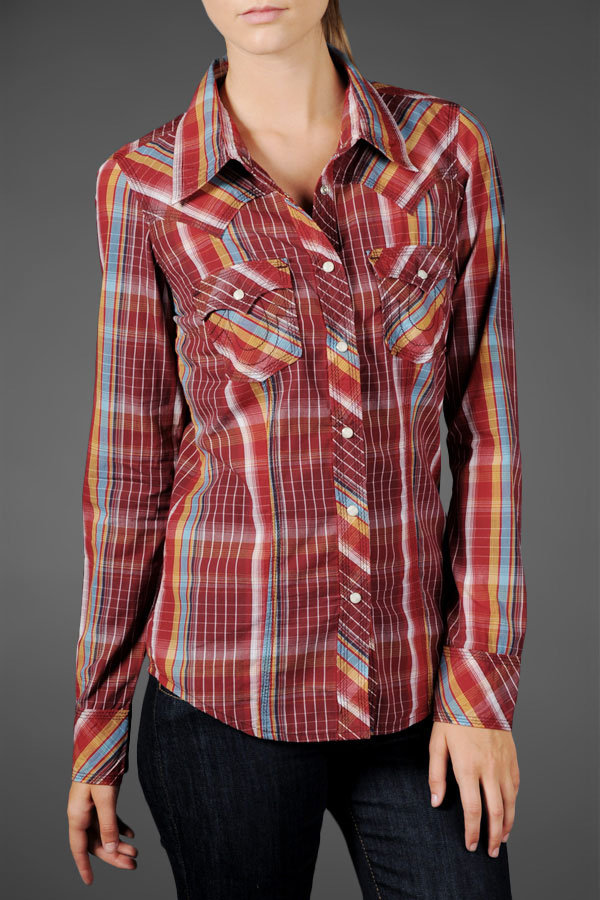 Women's Rocky Western Plaid Shirt - Halifax Red