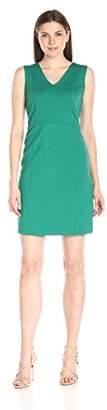 Lark & Ro Women's Sleeveless V-Neck Sheath Dress