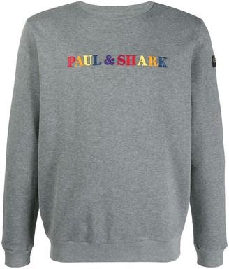 Paul & Shark logo embroidered sweater
