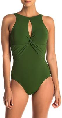 Robin Piccone Ava High Neck One-Piece Swimsuit