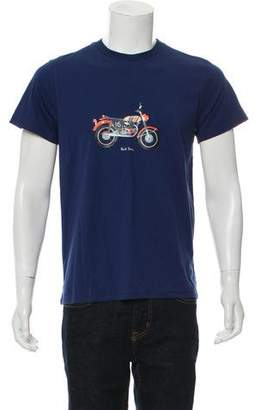 Paul Smith Bolide Motorcycle Print T-Shirt