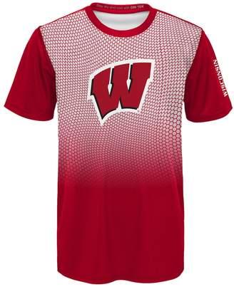 NCAA Kohl's Boys 8-20 Wisconsin Badgers Bitmapped Dri-Tek Tee