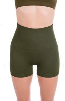 ±0 0 Higi Quality Comfortable Women Fitness Running Yoga Shorts Sports Mini Shorts - X LARGE OLIVE