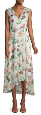 Calvin Klein Floral High-Low Dress