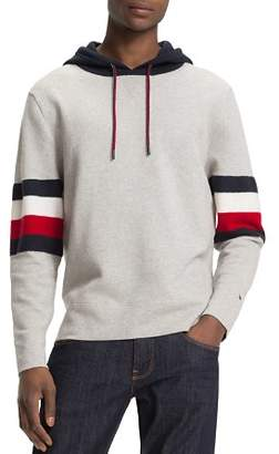 Tommy Hilfiger Stripe-Accented Color-Block Hooded Sweatshirt