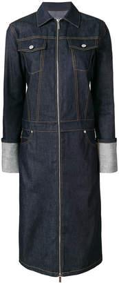 Helmut Lang raw denim trench coat