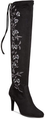 Rialto Cinco Embroidered Over-The-Knee Boots Women's Shoes