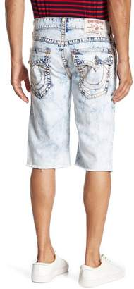 True Religion Cutoff Straight Flap Denim Shorts