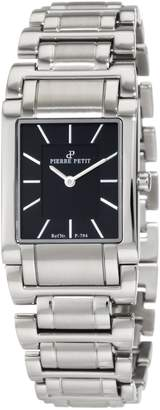 Pierre Petit Women's P-794A Serie Laval Square Case Dial Stainless-Steel Bracelet Watch