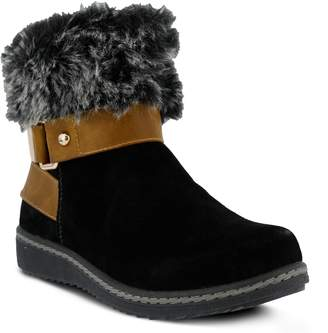 Spring Step Popsicle Water Resistant Faux Fur Bootie
