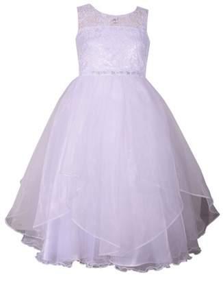 Iris & Ivy Lace Bodice First Communion Dress