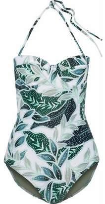 Mara Hoffman Cutout Printed Halterneck Swimsuit