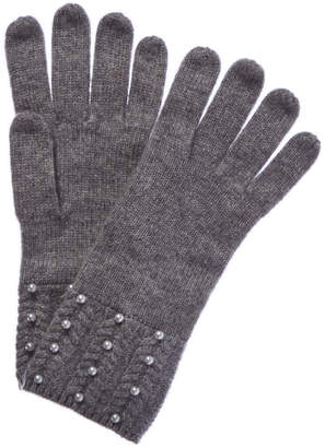 Forte Cashmere Cashmere Gloves With Pearls