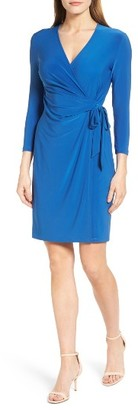 Women's Anne Klein Stretch Jersey Faux Wrap Dress $99 thestylecure.com