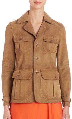 Polo Ralph Lauren Suede Jacket $998 thestylecure.com