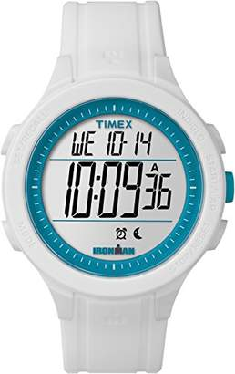 Timex Unisex Ironman Essential 30 Lap LCD Dial with a White Resin Strap Watch TW5M14800