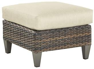 Pottery Barn Abrego All-Weather Wicker Ottoman