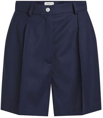 Natasha Zinko Wool Gabardine Pleated Shorts