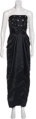 Thomas Wylde Strapless Evening Dress