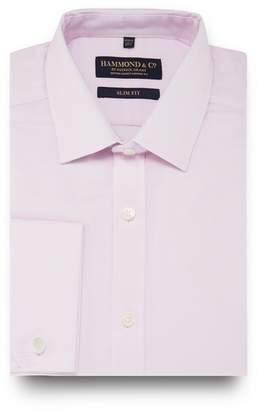 Co Hammond & by Patrick Grant - Big And Tall Pink Mini Grid Check Slim Fit Shirt