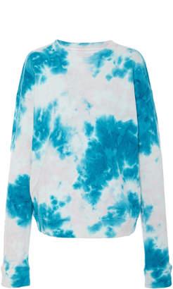 The Elder Statesman Marble Dyed Cotton Fleece Sweatshirt