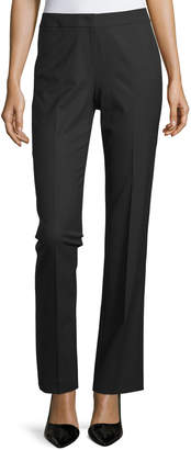Lafayette 148 New York Straight-Leg Front-Zip Pants