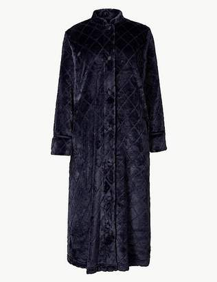 Marks and Spencer Textured Long Sleeve Dressing Gown