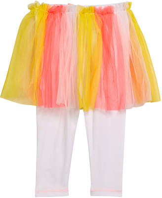 Billieblush Leggings w/ Attached Multicolored Tulle Skirt, Size 12M-3