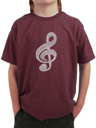 LOS ANGELES POP ART Los Angeles Pop Art Music Note Graphic T-Shirt Boys