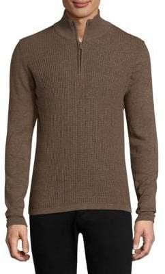Zachary Prell Higgins High Neck Cotton Sweater