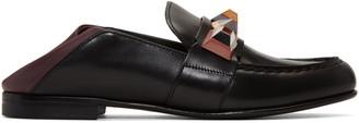 Fendi Black Rainbow Loafers $895 thestylecure.com