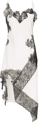 Marques Almeida Marques'Almeida lace-trimmed slip dress
