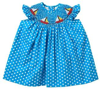 Carriage Boutique Colorful Sailboat Bishop Dress (Baby Girls)