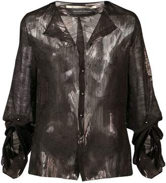 Roland Mouret metallic sheer blouse