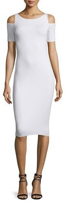 Bailey 44 Deneuve Cold-Shoulder Bodycon Dress, White $138 thestylecure.com