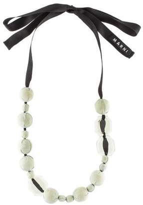 Marni Fabric Bead Necklace