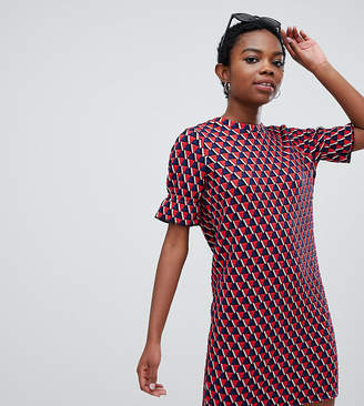 Noisy May Petite short sleeve textured print dress