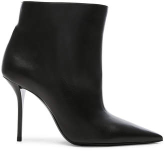 Saint Laurent Leather Pierre Stiletto Ankle Boots