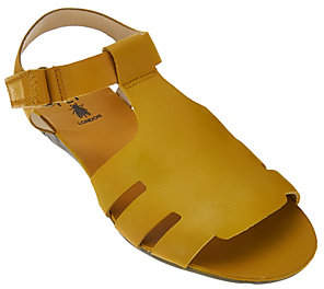 Fly London Leather Adjustable T-strap Sandals -Fely