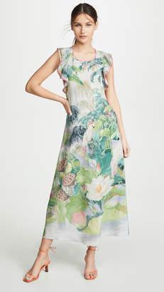 RED Valentino Sleeveless Floral Racerback Dress