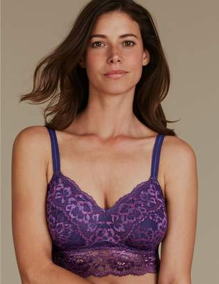 Marks and Spencer Lace Embroidered Non-Padded Bralet