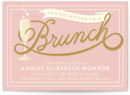 Bubbly Brunch Bridal Shower Invitations